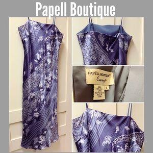 Papell boutique purple grey cocktail dress